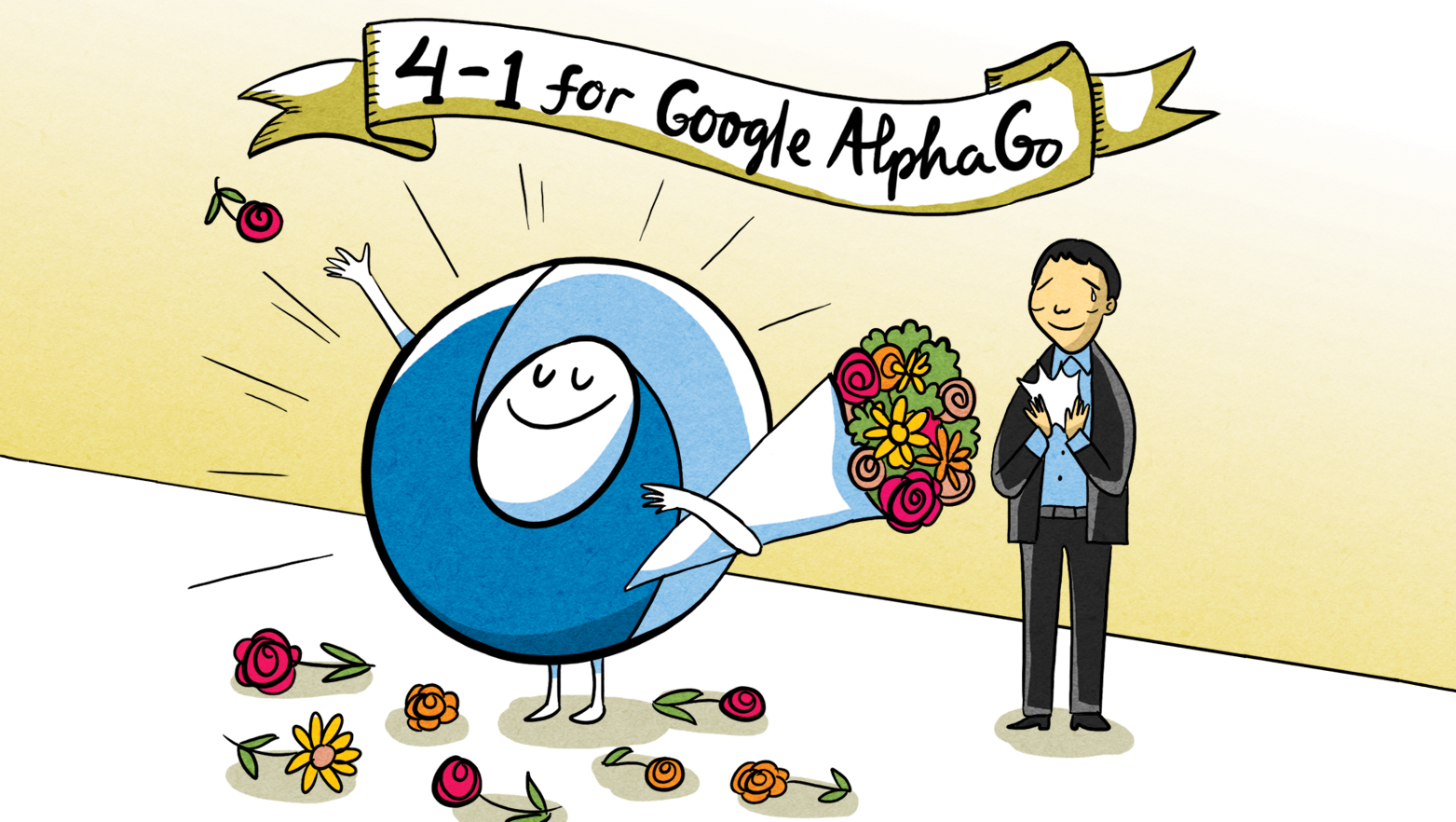 4-1 for Google Alpha Go