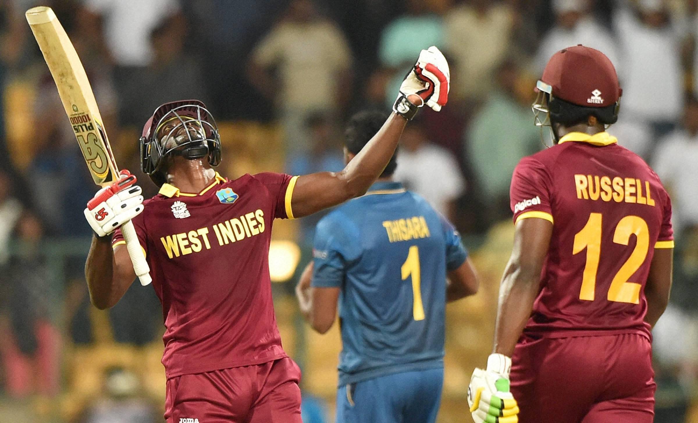West Indies beat Sri Lanka by seven wickets in World T20