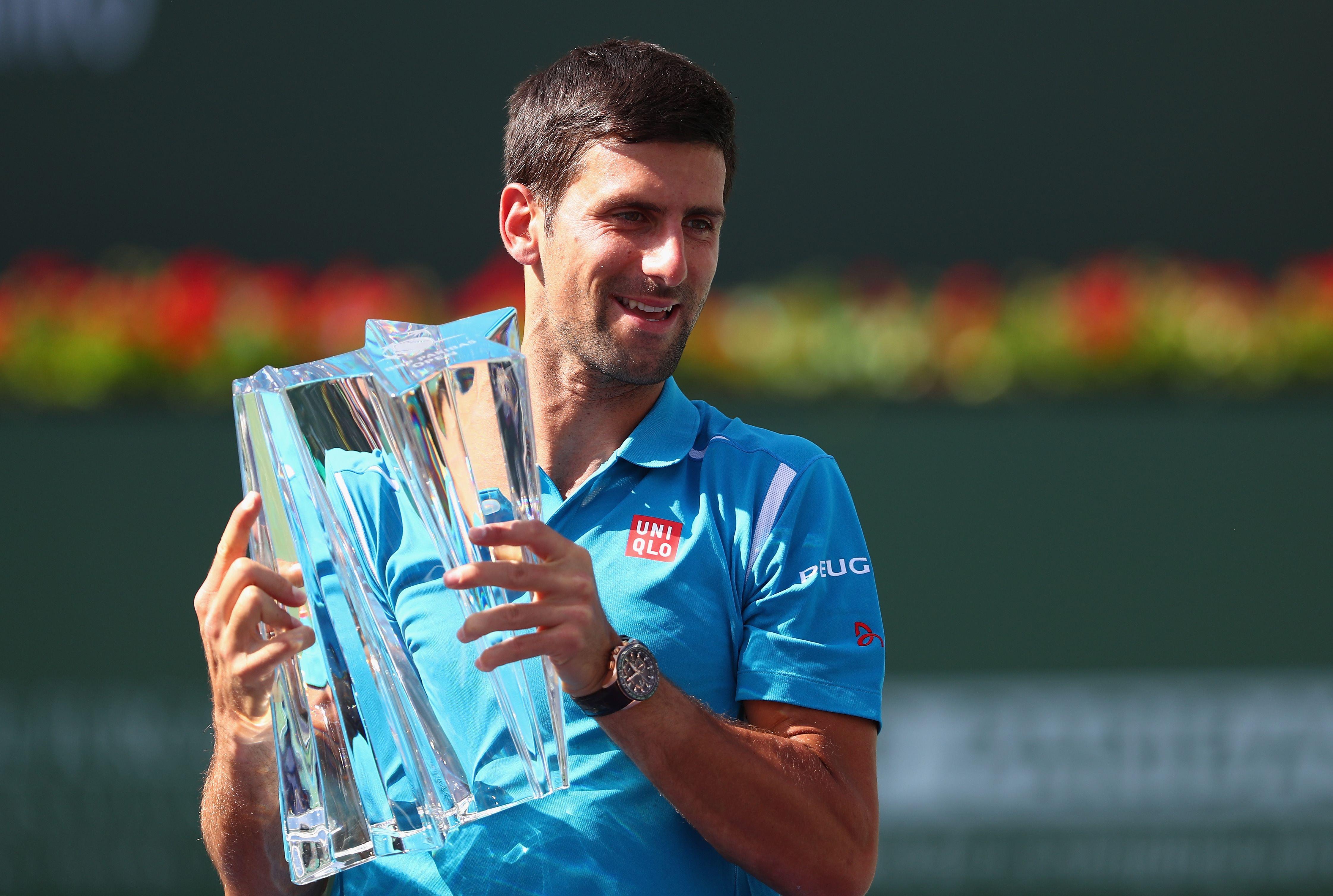 Djokovic crushes Raonic, wins fifth Indian Wells title