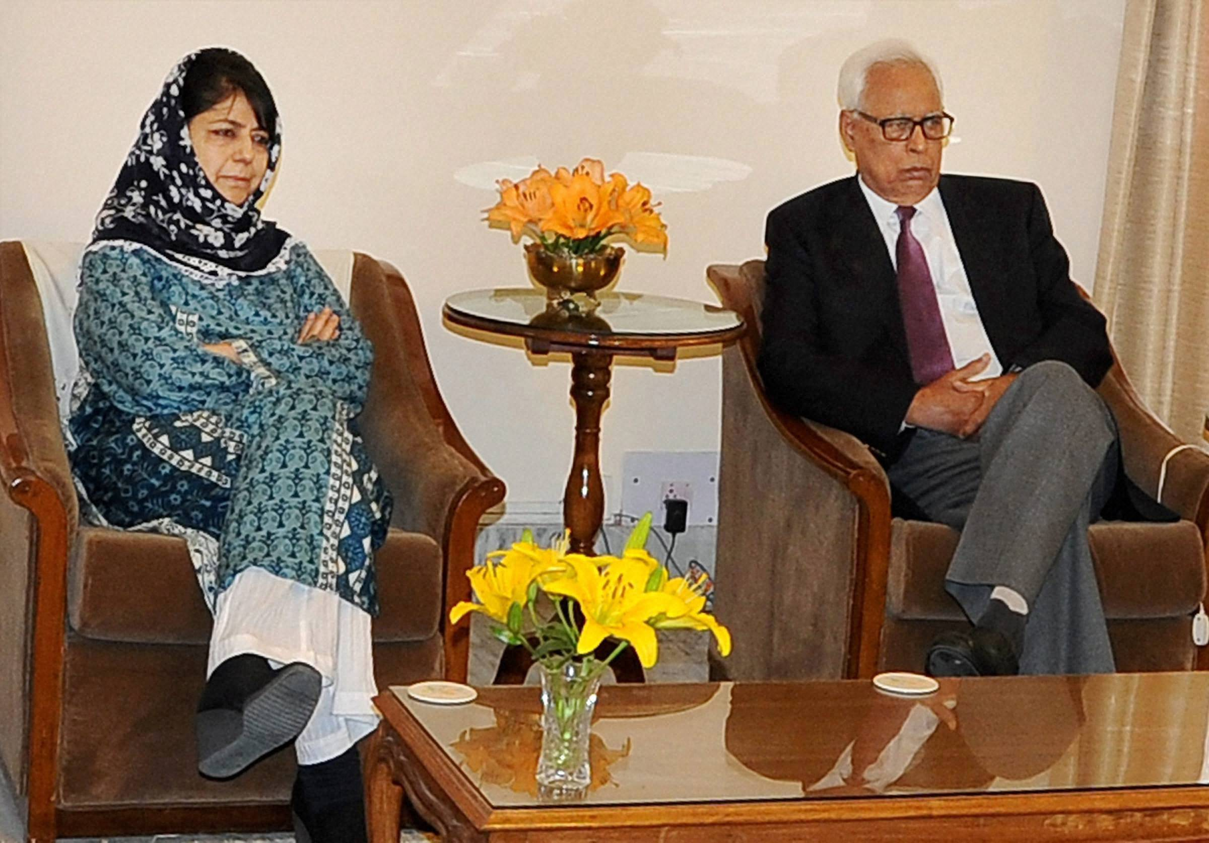 Mehbooba may be sworn-in on April four