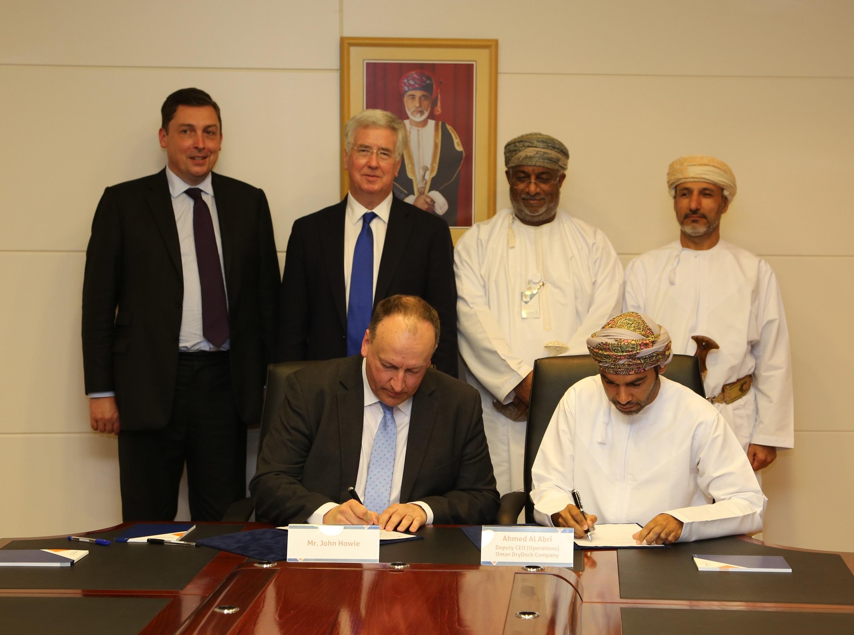 Special Economic Zone Authority at Duqm Chairman receives British Defence Secretary