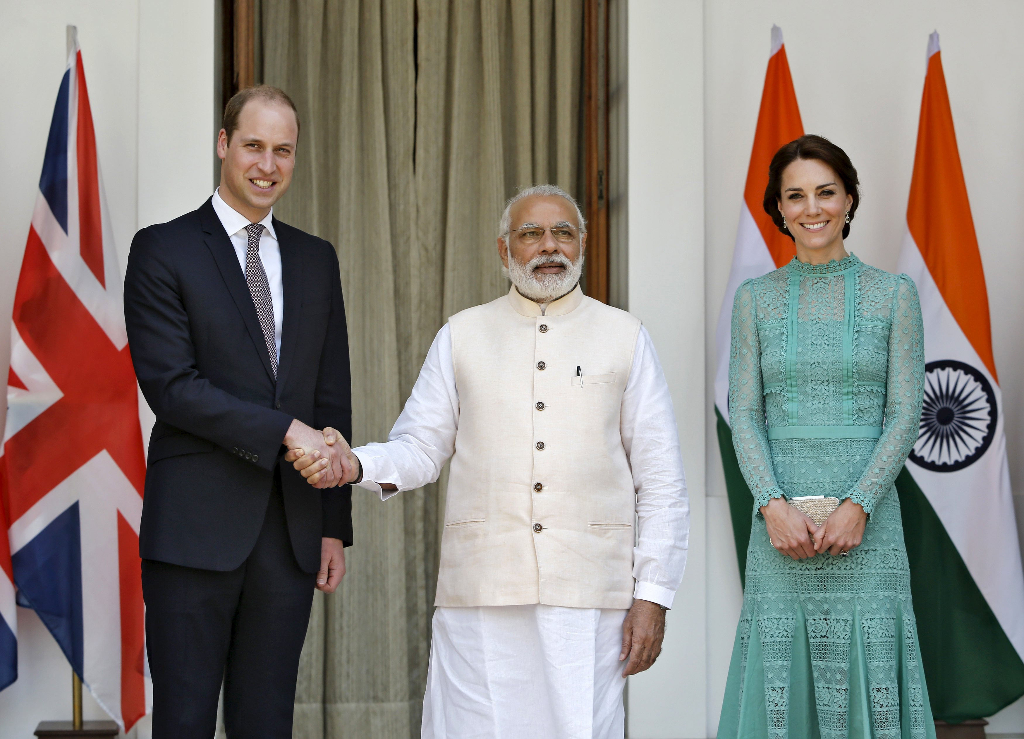 India's Modi hosts British royals for musical lunch