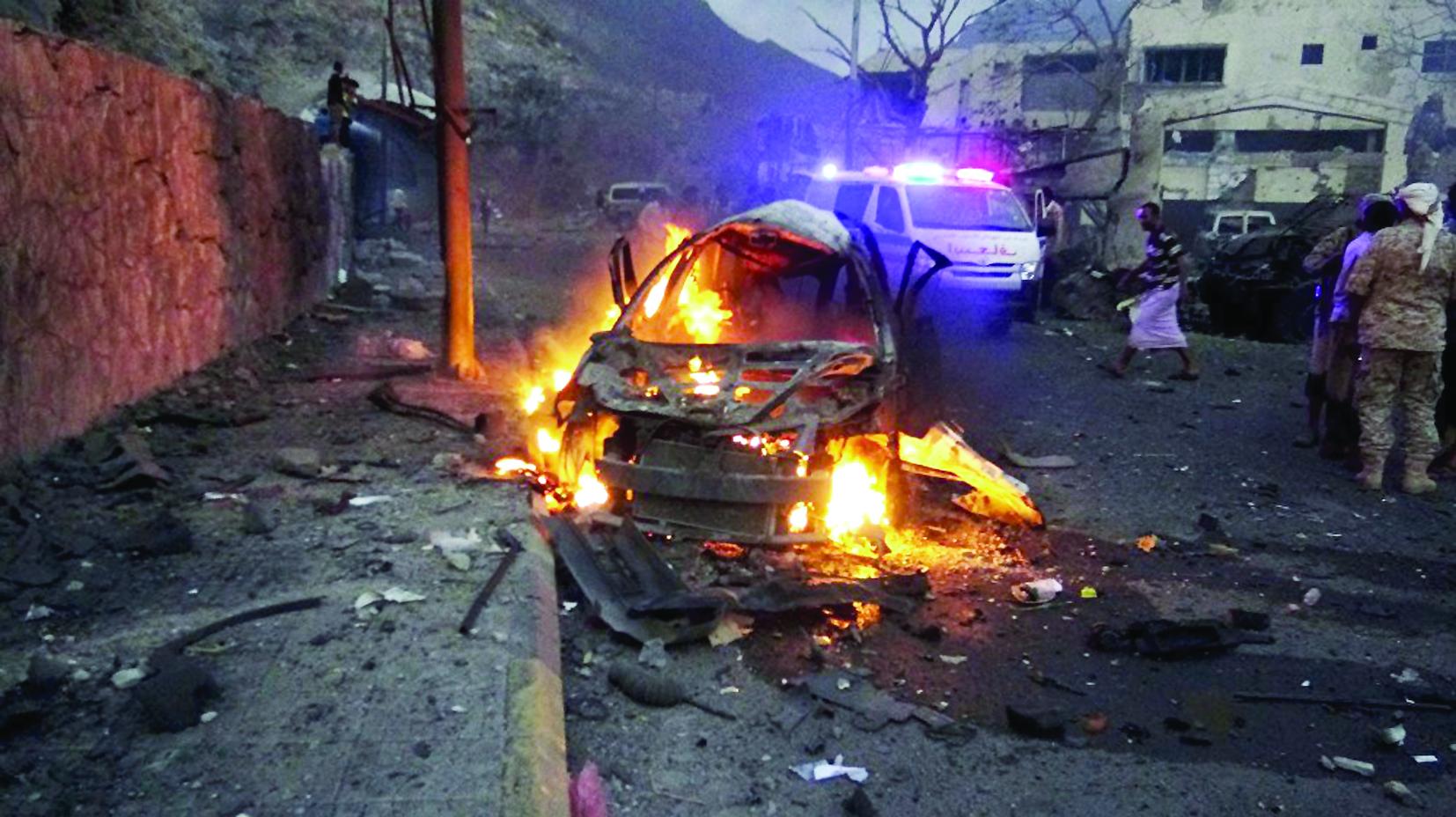 إحباط هجوم انتحاري على مطار عدن في اليمن