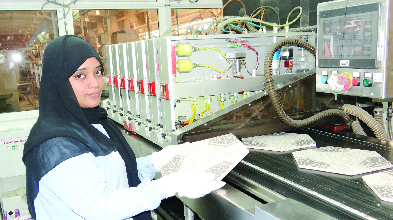 المها للسيراميك تطلق البلاط السداسي الشكل في الخليج العربي