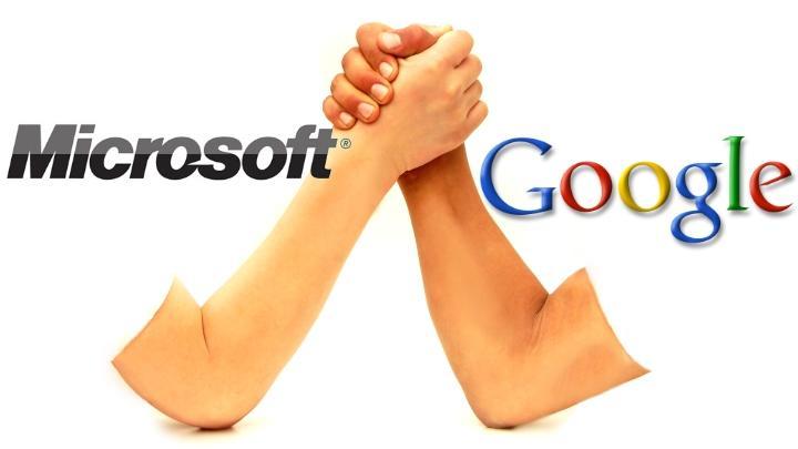 مايكروسوفت وجوجل تتفقان على وقف الشكاوى القانونية وتتوعدان بالمنافسة الشريفة على جدارة منتجاتهما
