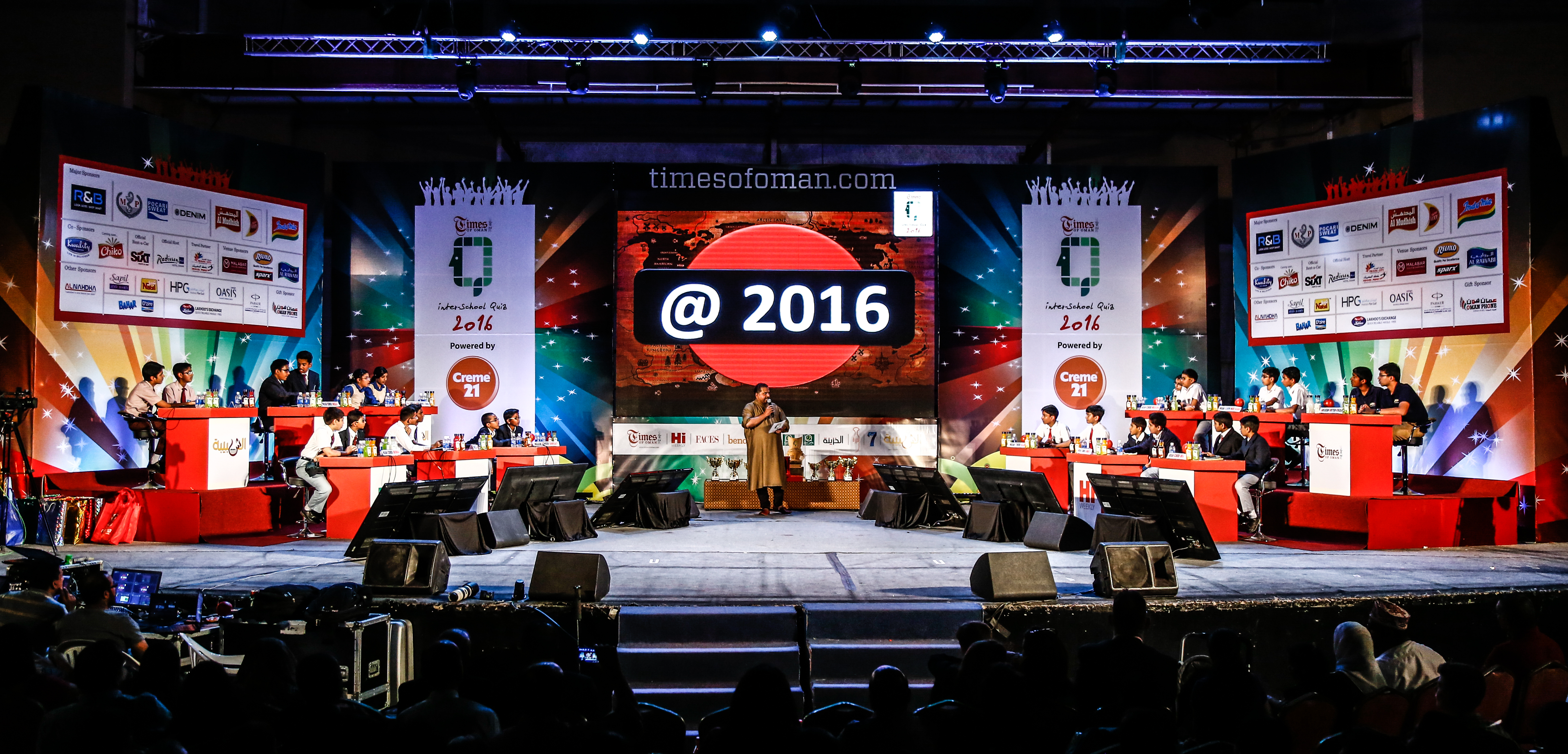 Indian School Muscat and  Indian School Wadi Kabir lift Times quiz titles