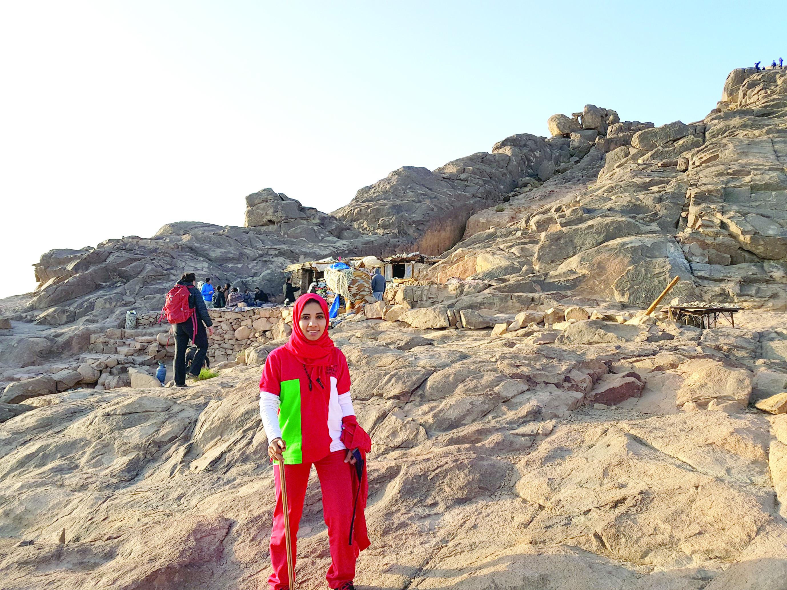 بدور الصالحية:أتمنى صعود أعلى قمة جبل ايفرست