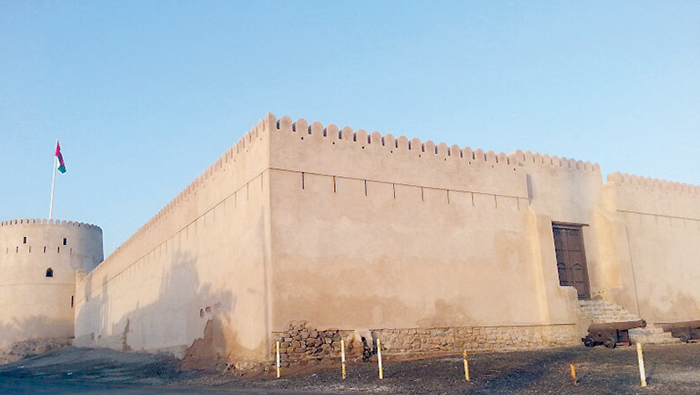 Portion of Oman's Khaboura Fort's wall collapses