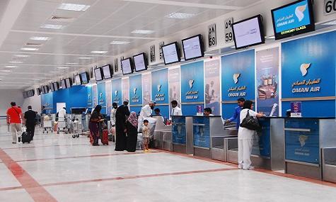 4 ملايين مسافر عبر مطاري مسقط وصلالة بنهاية أبريل 2016