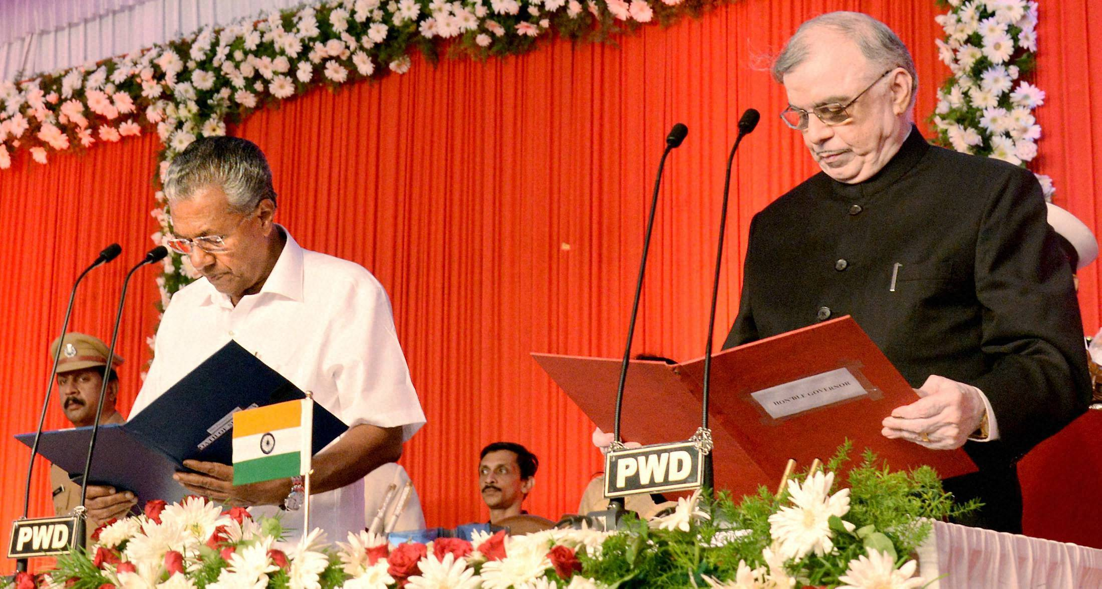 Pinarayi Vijayan sworn in as chief minister of Kerala