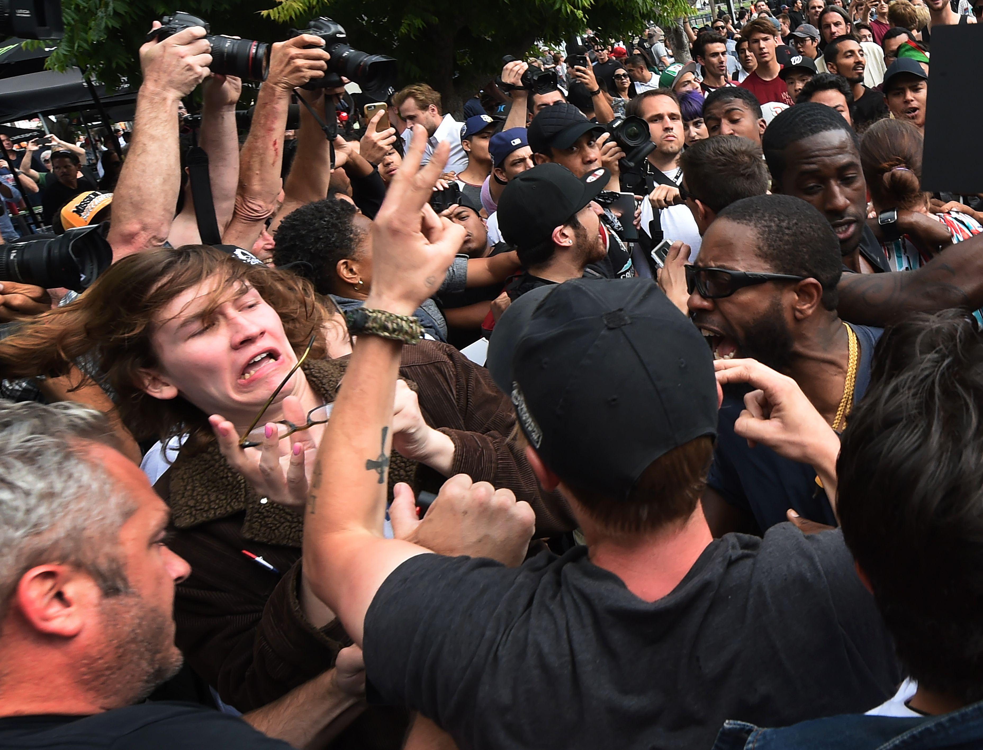 Trump supporters, protestors clash in San Diego, 35 arrested