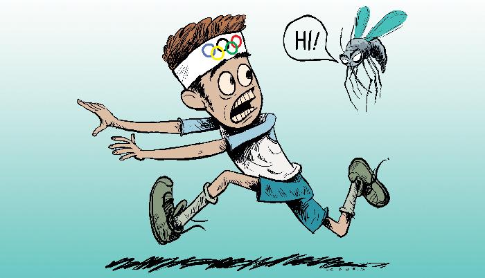 Zika outbreak threatens Rio Olympics
