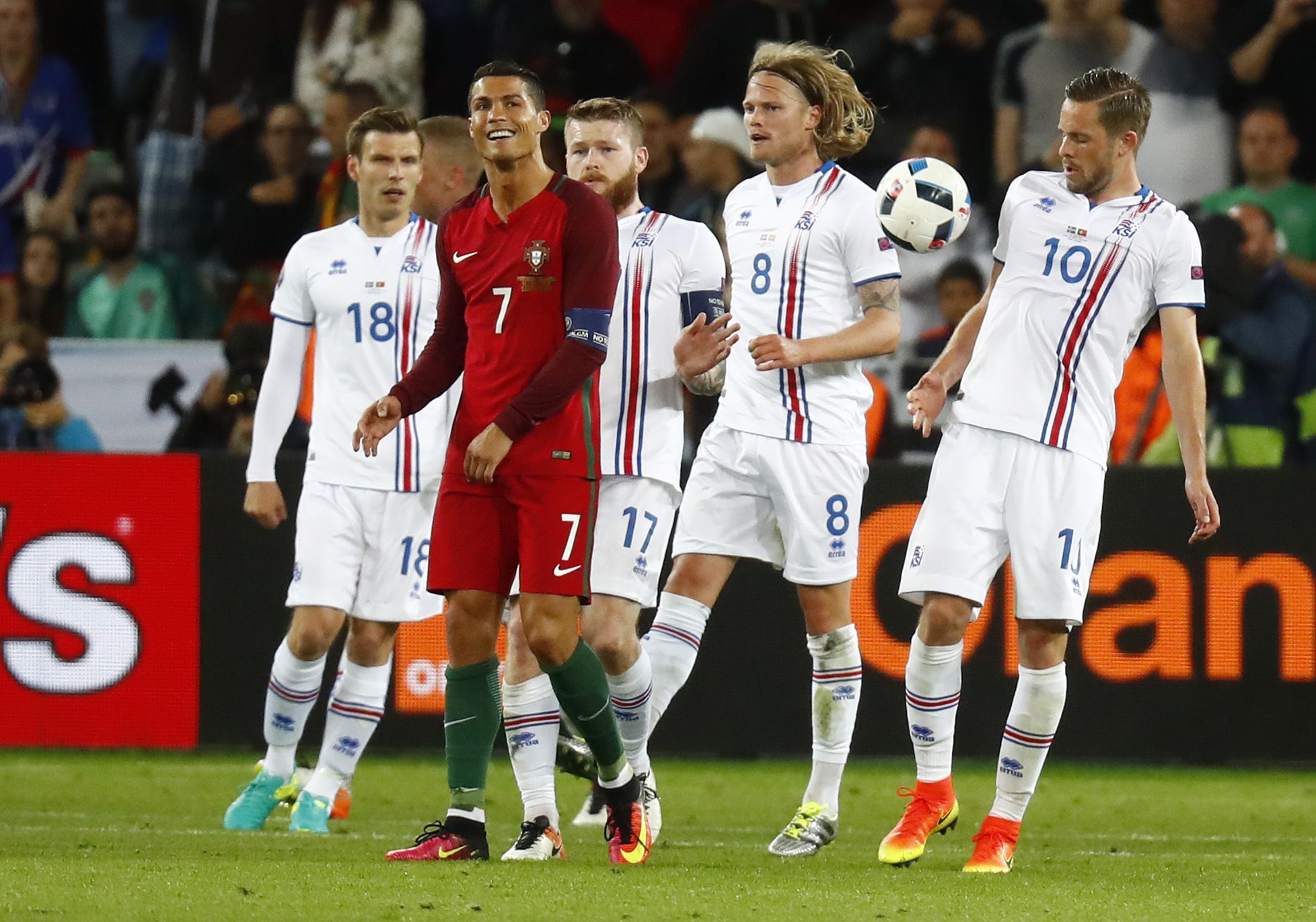 Euro 2016: Debutants Iceland hold Portugal to shock draw