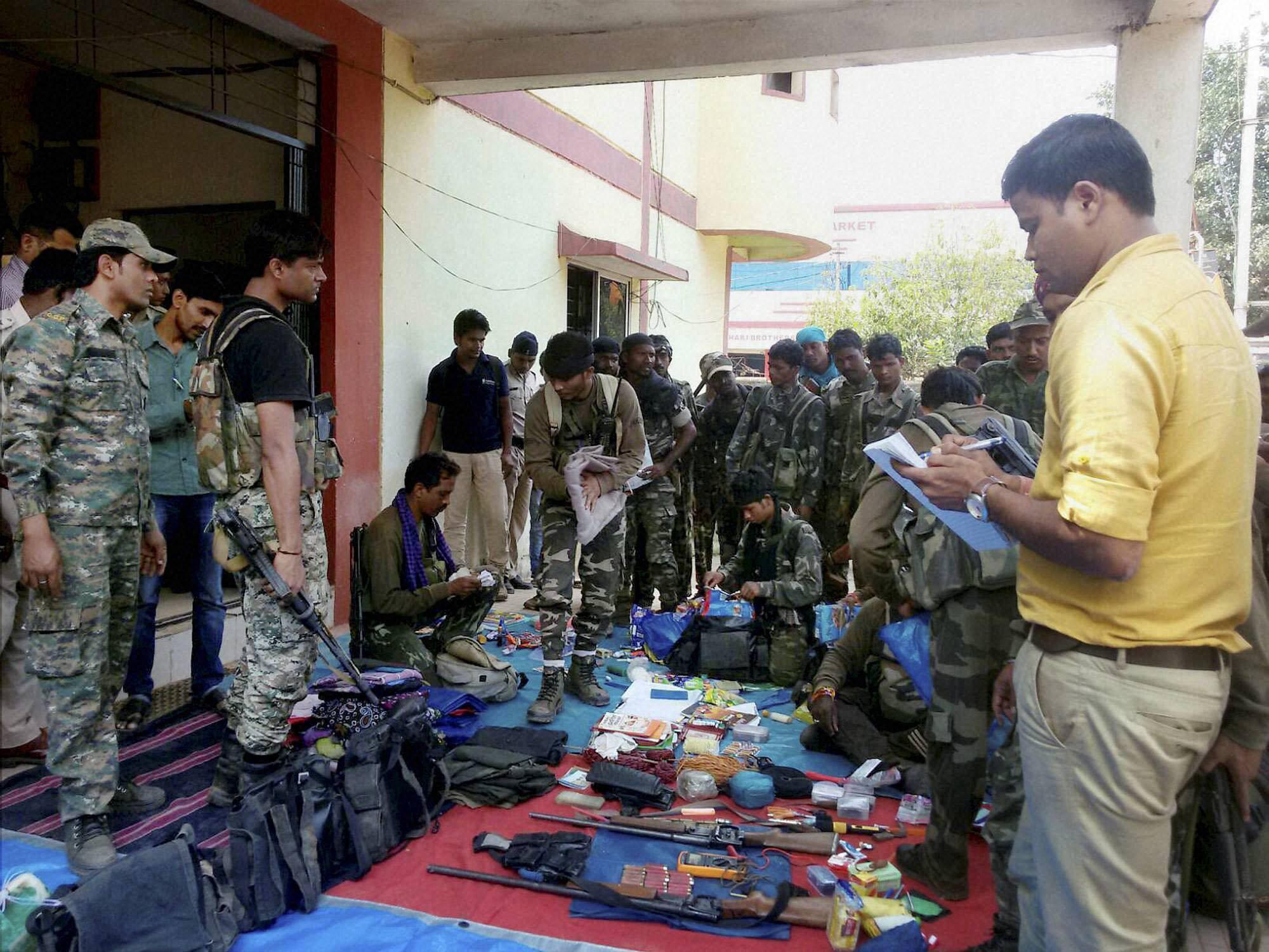 Three Naxals shot dead by security forces in Chhattisgarh