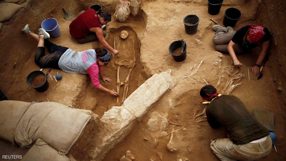 اكتشاف أول مقبرة فلسطينية