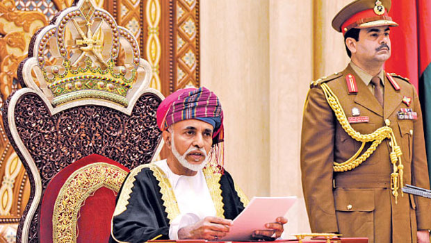 Royal honour for excellent service to officers in Oman