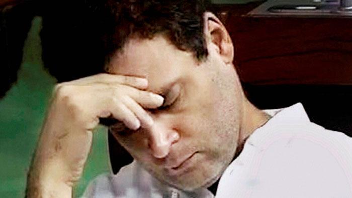 Rahul Gandhi  caught 'napping' in Lok Sabha