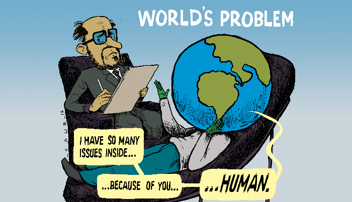 World engulfed by problems