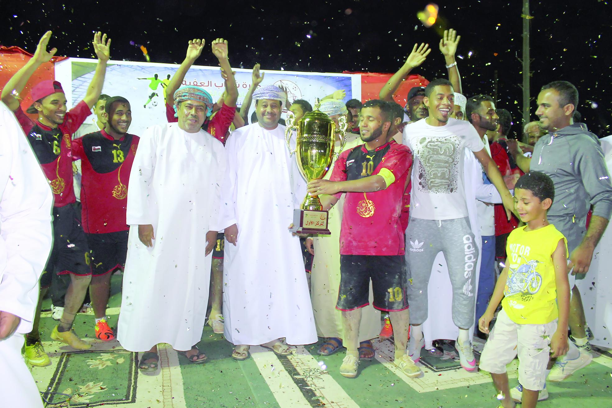 فريق طيبة الرياضي يطيِّب قلوب الجماهير ويحرز لقب بطولة شباب العفية الكروية الرمضانية