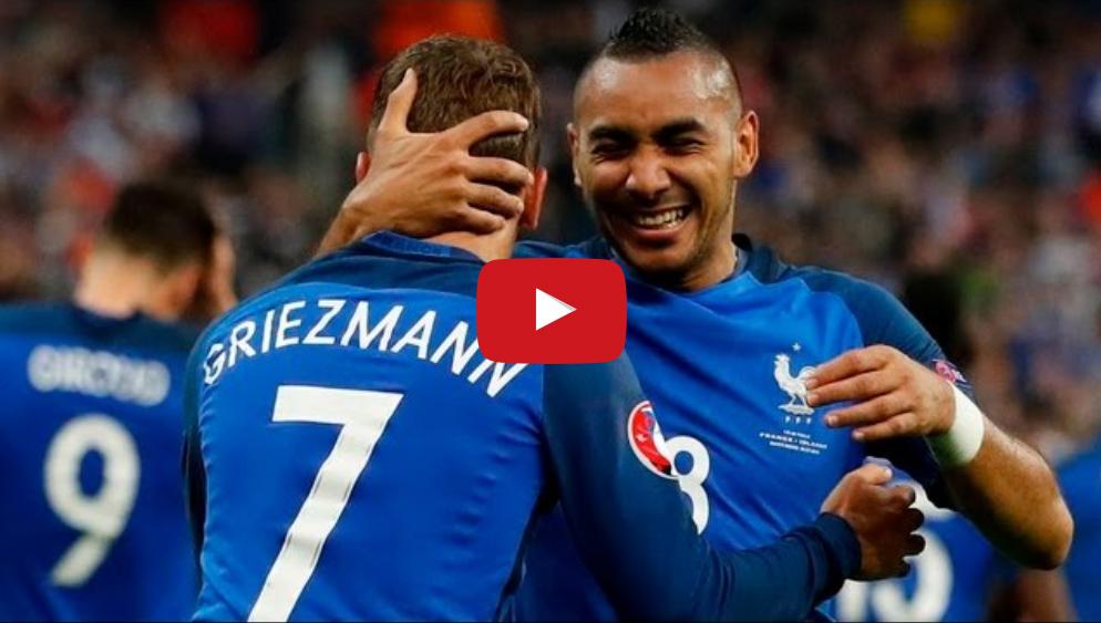 """بالفيديو..""""الديك"""" الفرنسي """"يصيح"""" بخماسية في وجه ايسلندا"""