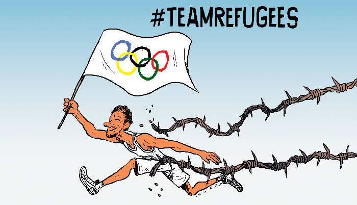 Refugees' contingent at Olympics