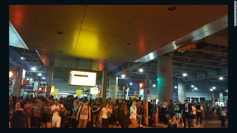 Reports of shots at New York's JFK airport lead to evacuation