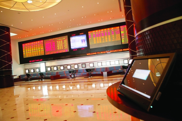 مؤشر سوق مسقط يغلق مرتفعًا بنسبة 01ر0 بالمائة