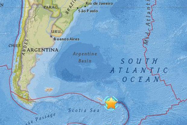 زلزال بقوة 4ر7 درجة يضرب جنوب المحيط الأطلسي