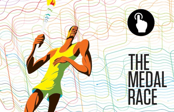 Interactive Infographic: Rio Olympics 2016 medals race