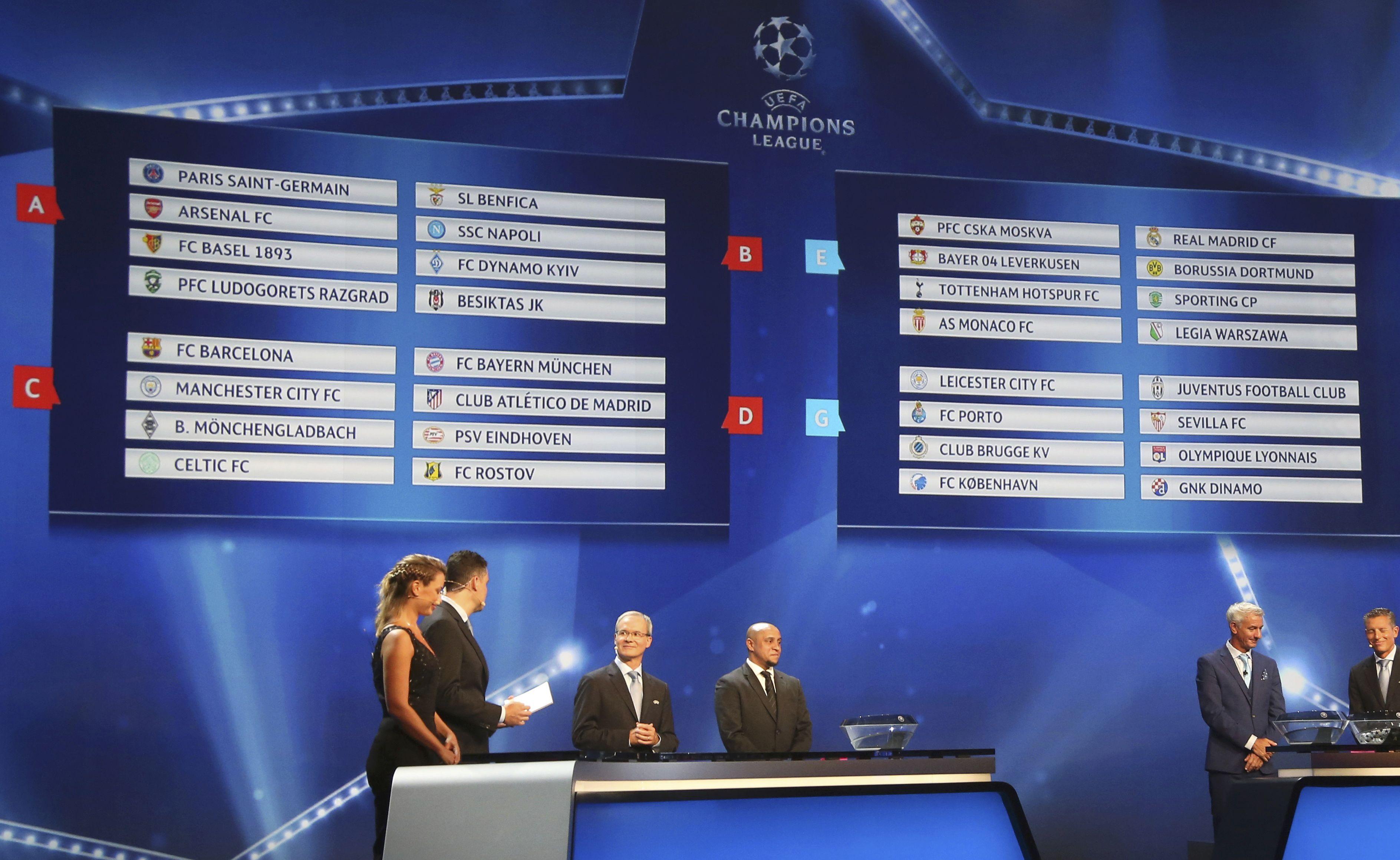 مواجهات من العيار الثقيل في قرعة دور المجموعات بأبطال أوروبا