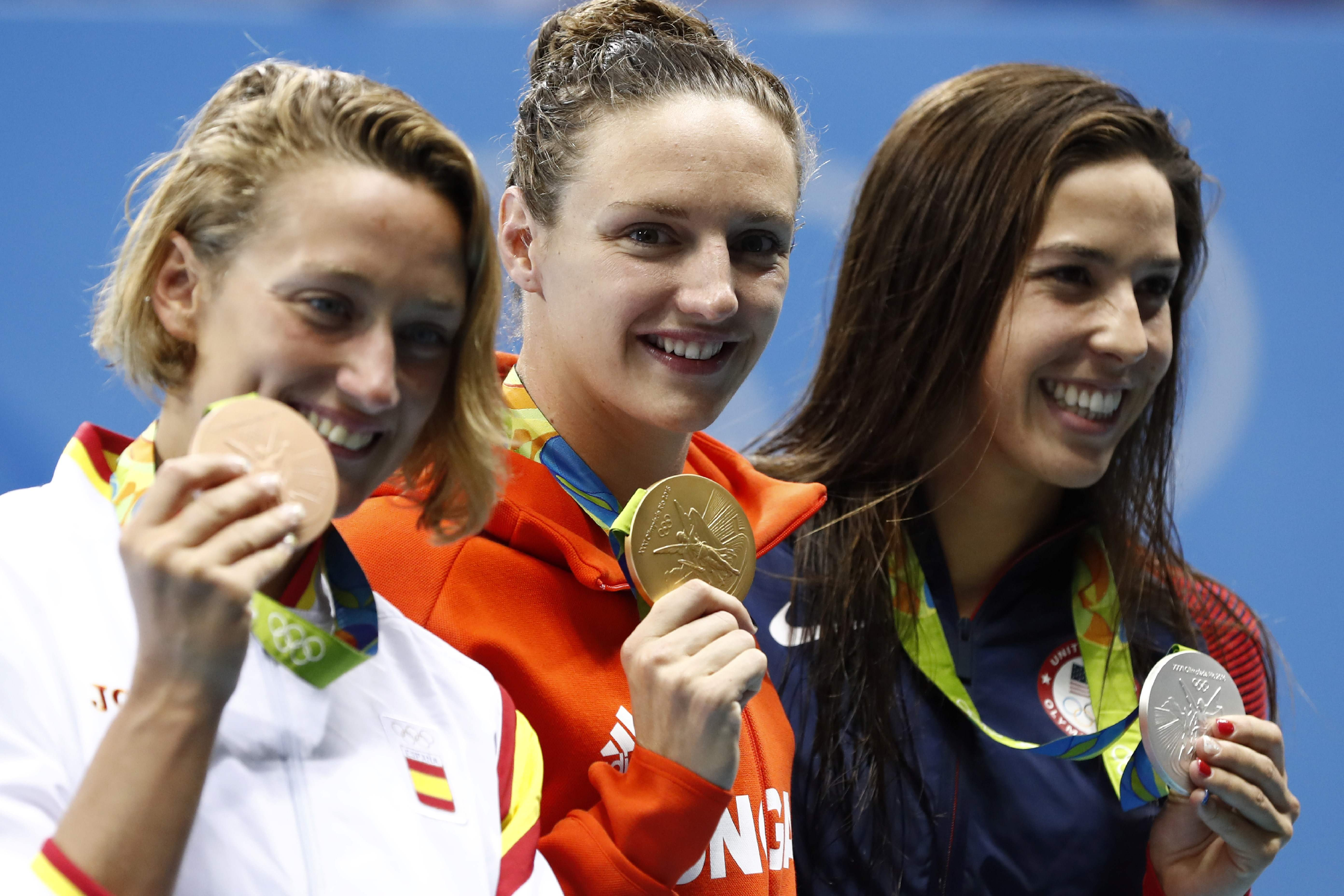 Swimming: Hungary's Iron Lady finally strikes gold