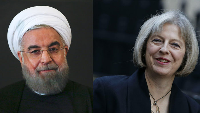 British prime minister raises case of detained aid worker with Iran's president
