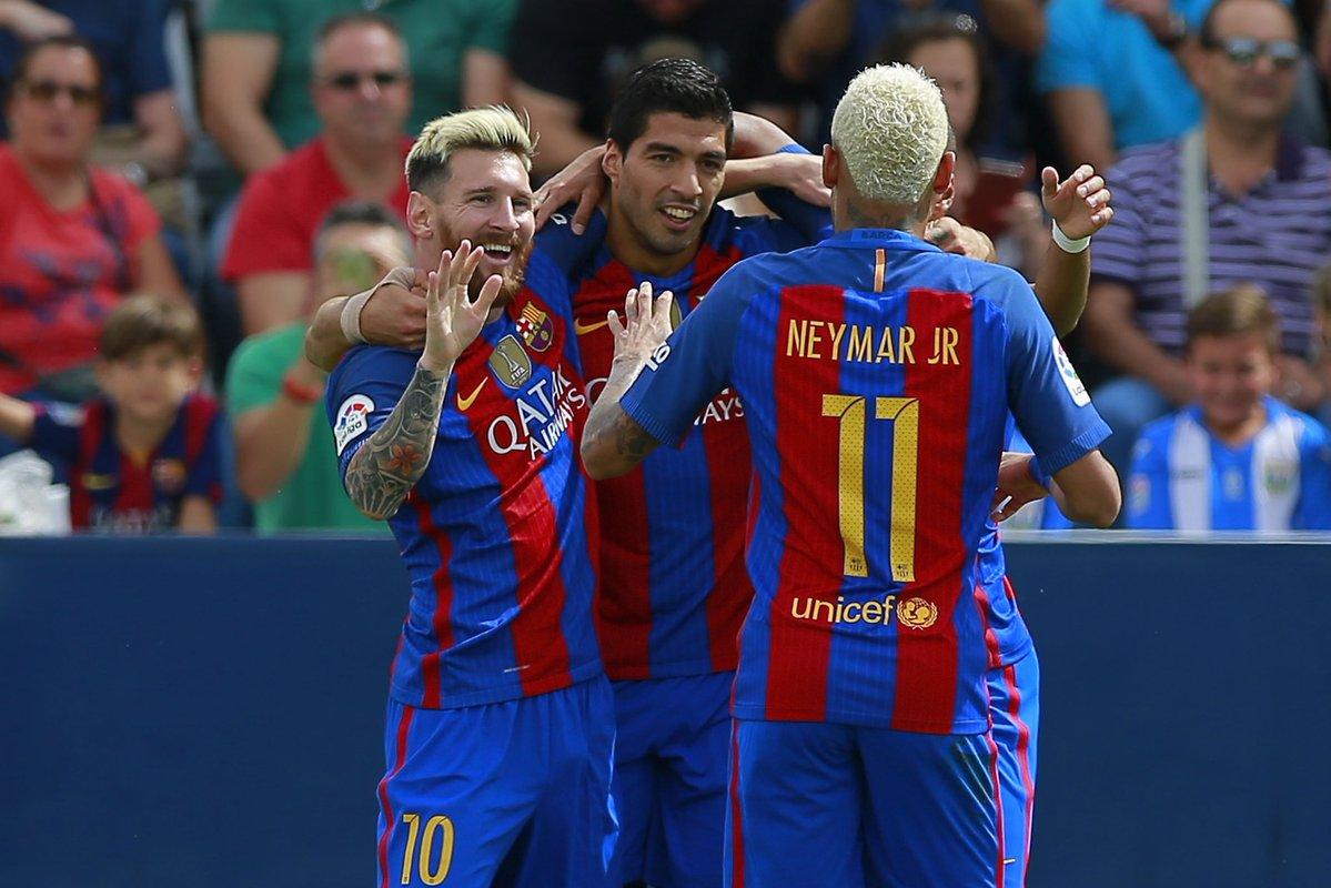 برشلونة يتنزه في ليجانيس بخماسية