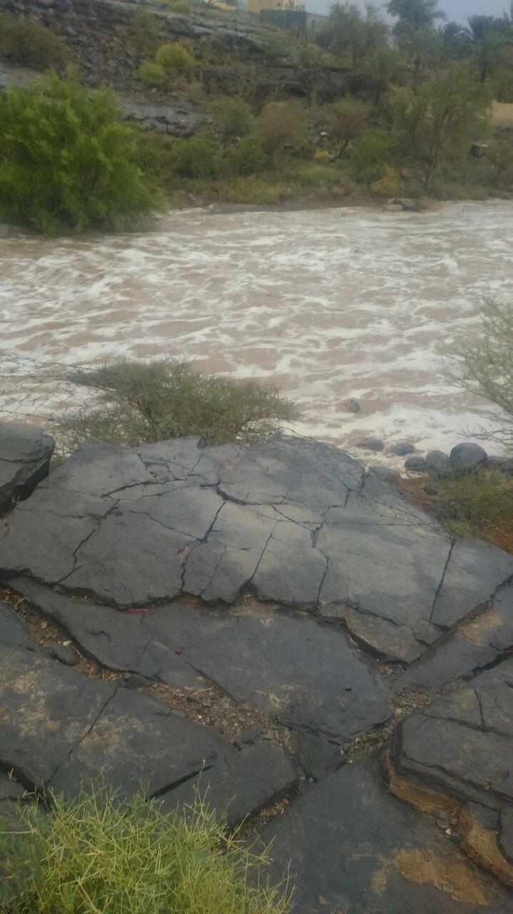 أمطار غزيرة على ولاية الحمراء
