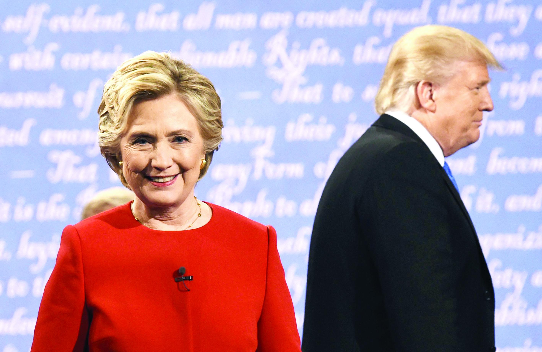 """""""هيلاري"""" تفوقت خلال مناظرة """"ترامب"""""""