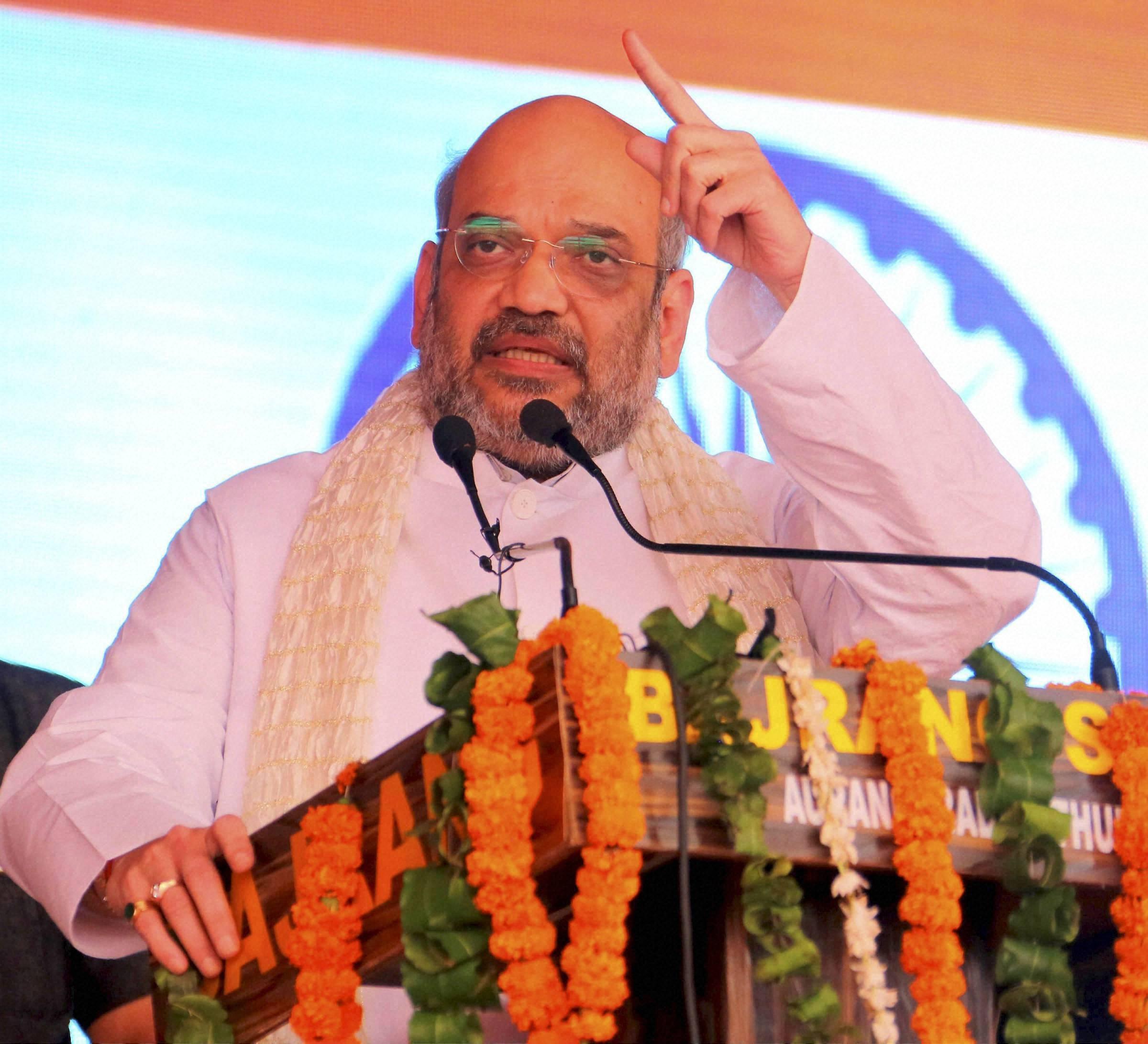 Shah calls for uprooting SP, BSP from Uttar Pradesh
