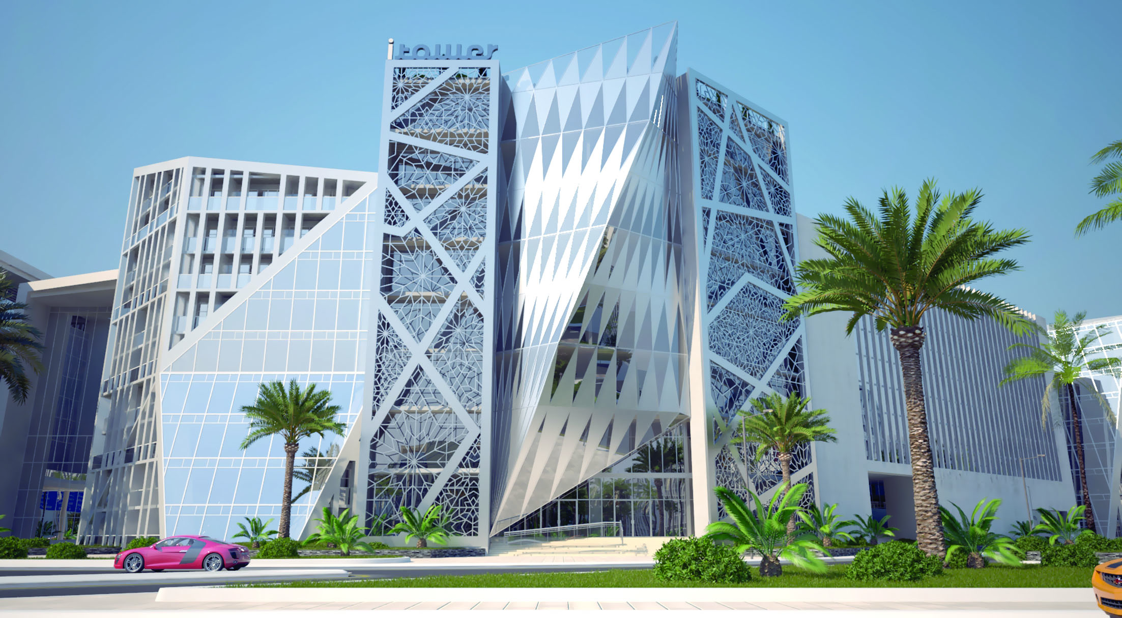 تقدم ملحوظ في أعمال الإنشاء في برج آي تاور ببوشر