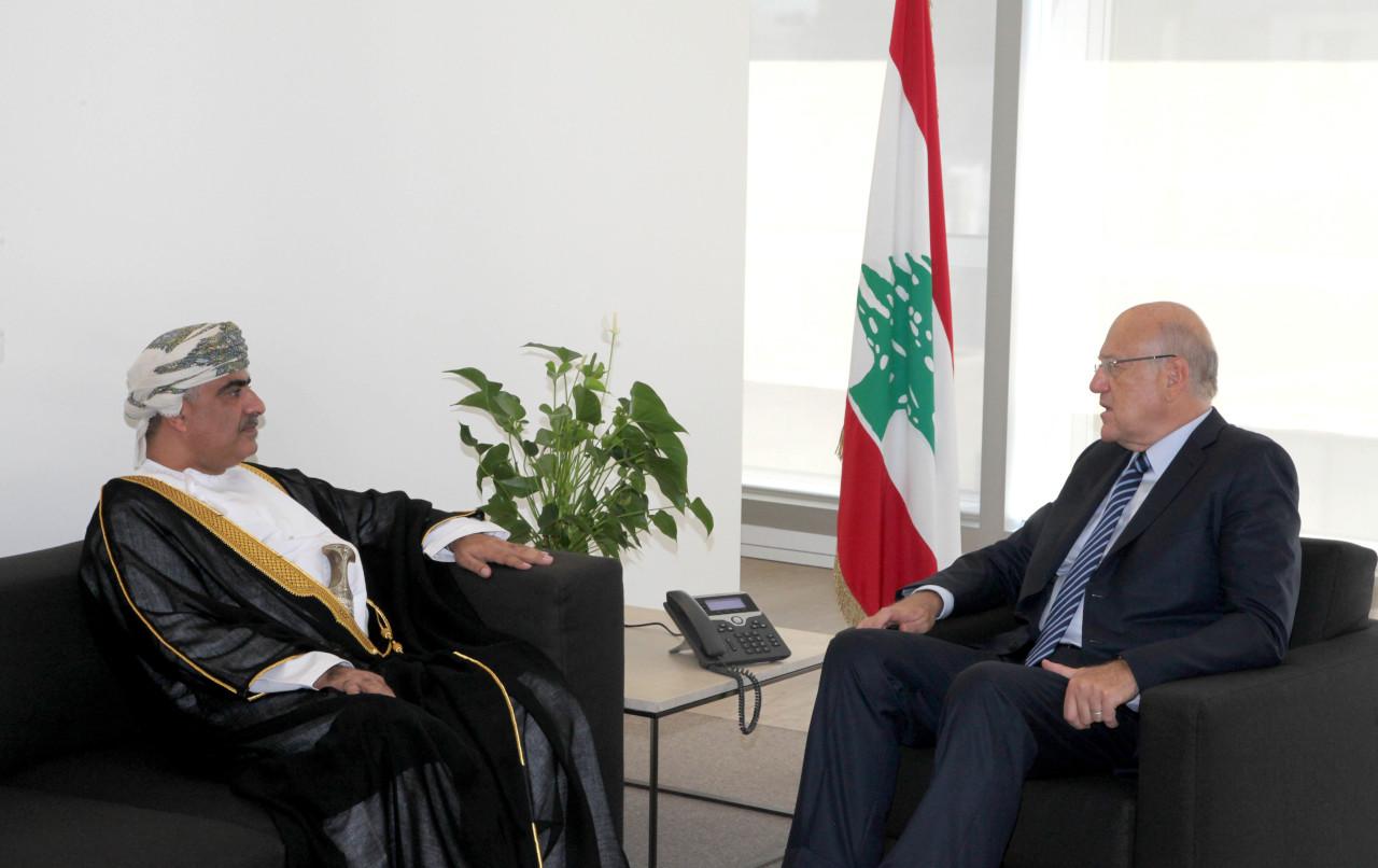 ميقاتي يلتقي سفير السلطنة في لبنان