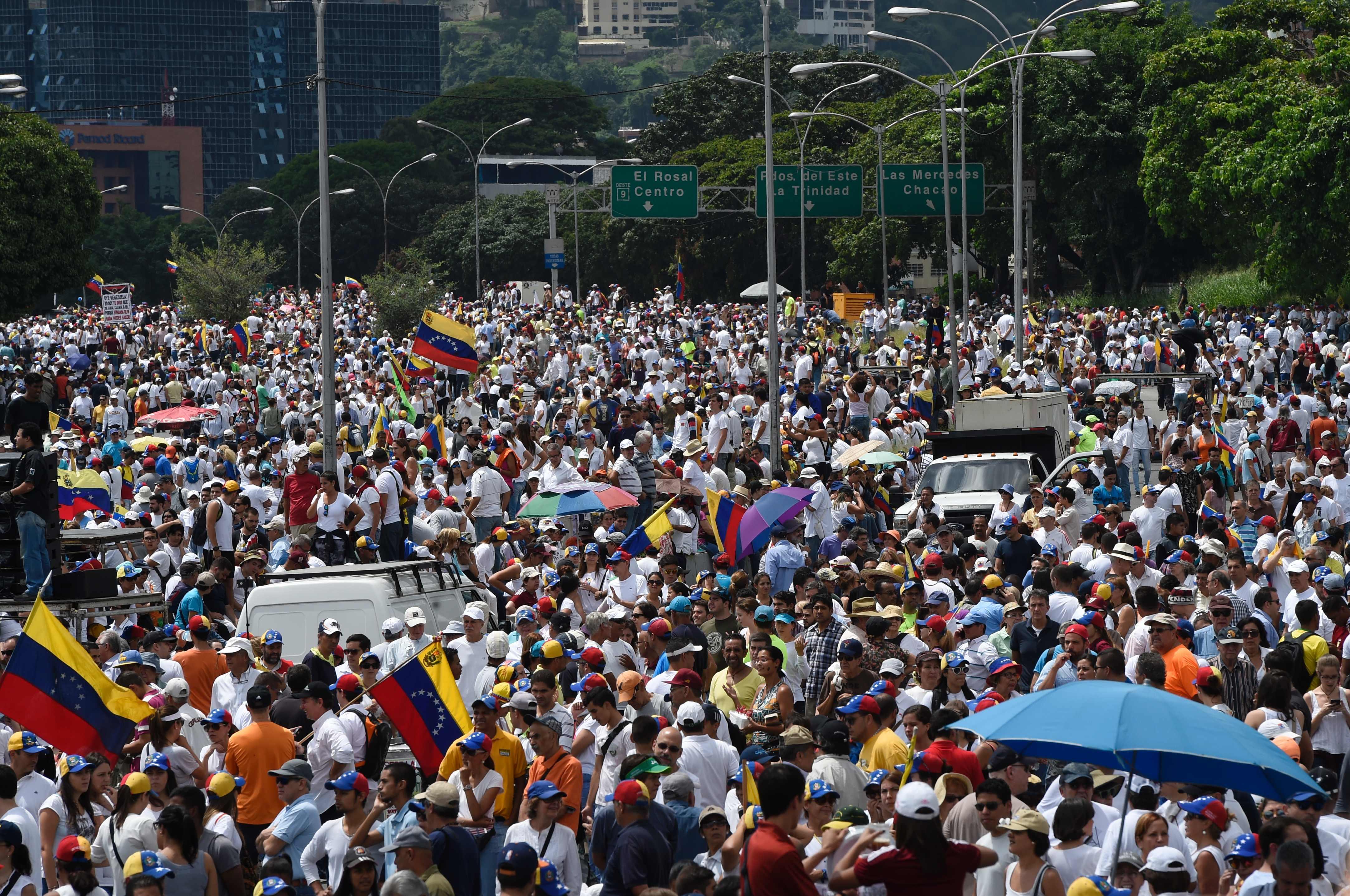 Venezuela opposition marches against President Maduro
