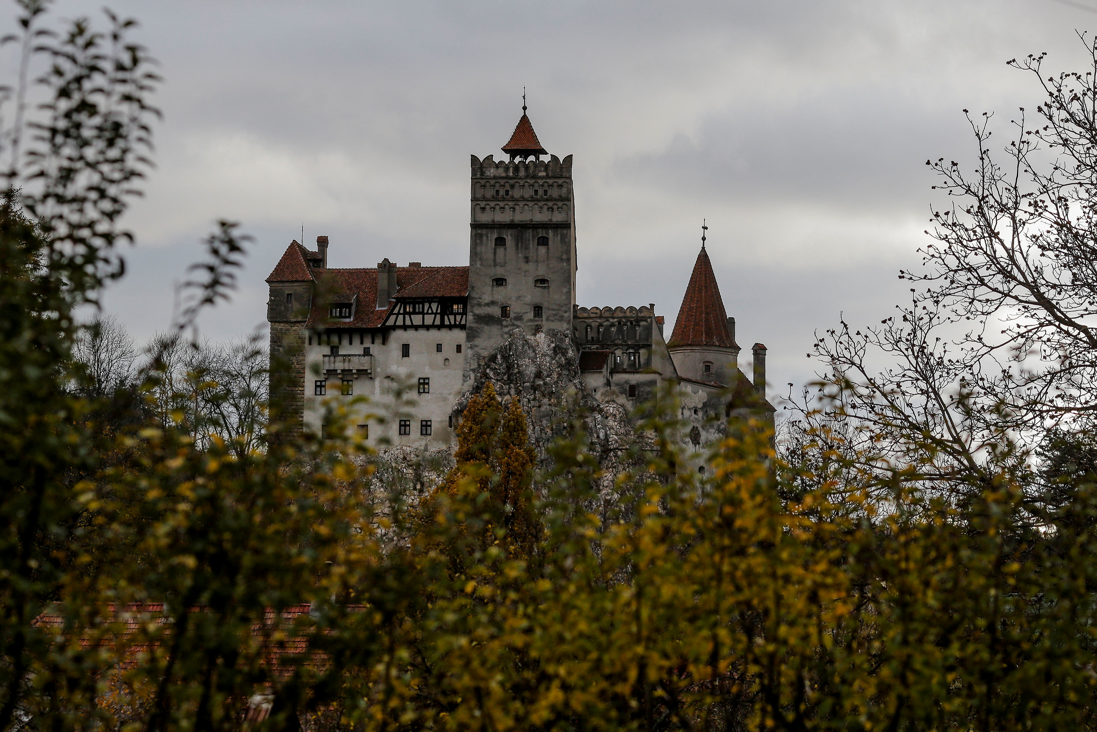 Dracula's castle welcomes guests with coffins and no silver