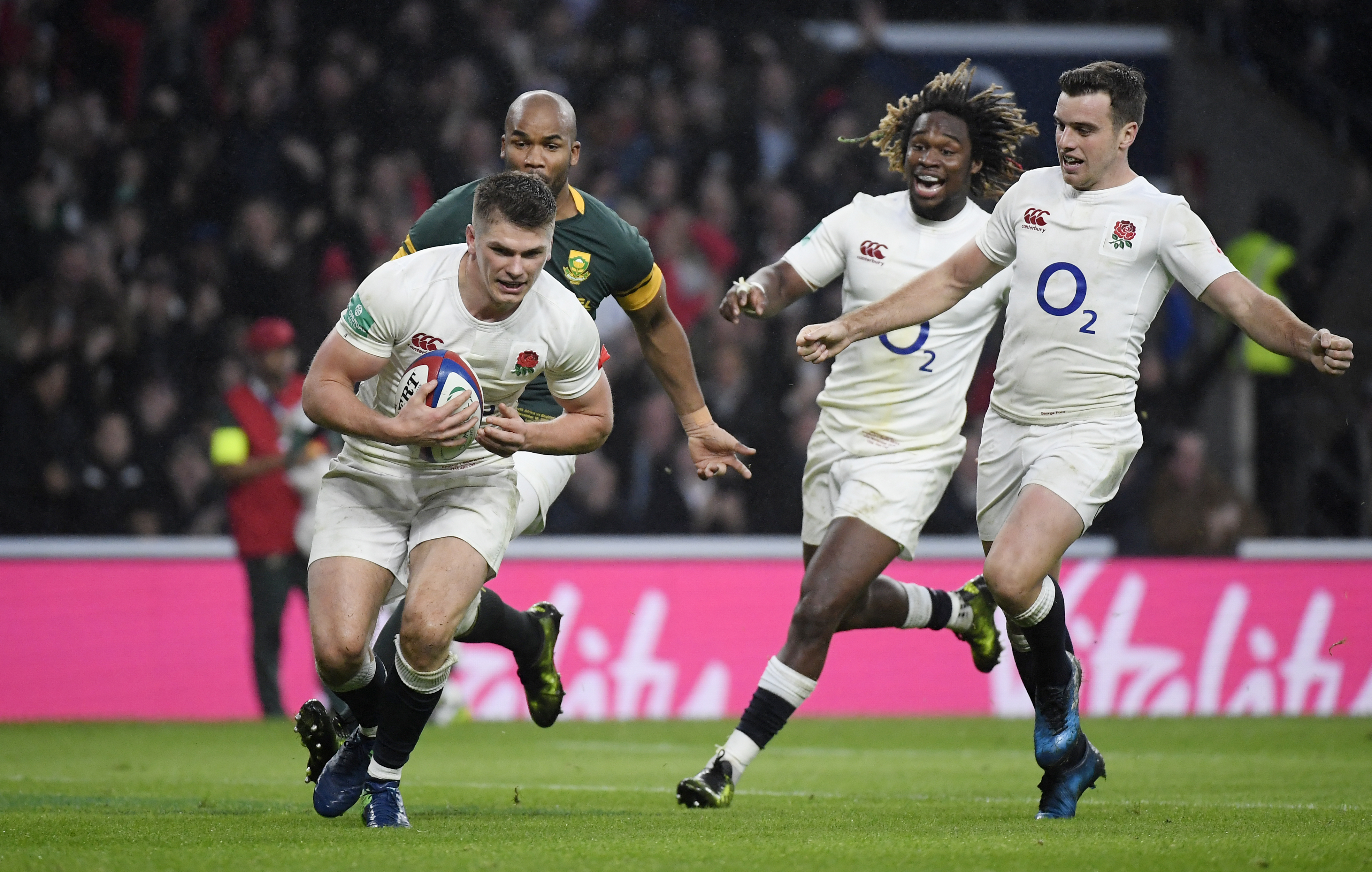 Rugby: England end South Africa jinx in style