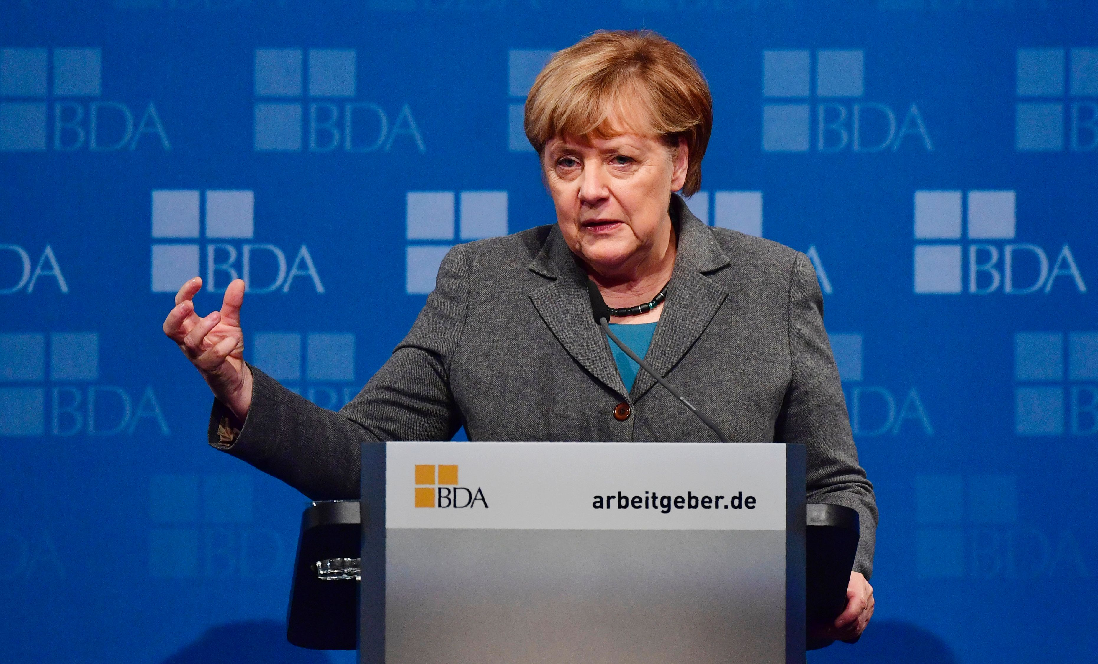 Merkel, with nod to Trump, warns against protectionism