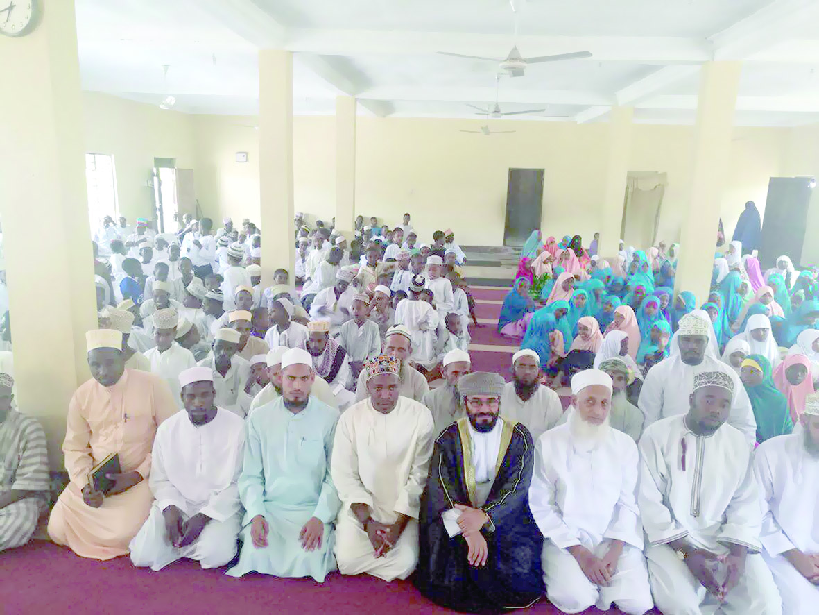 افتتاح مدرسة رسول الله في الجزيرة الخضراء بزنجبار