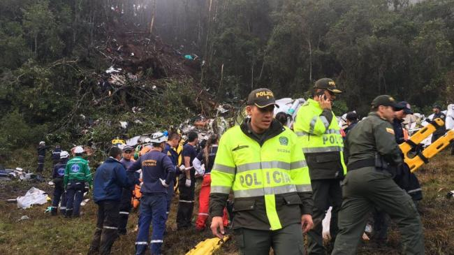 6  ناجين من حادث تحطم طائرة في كولومبيا من اصل 81 راكبا