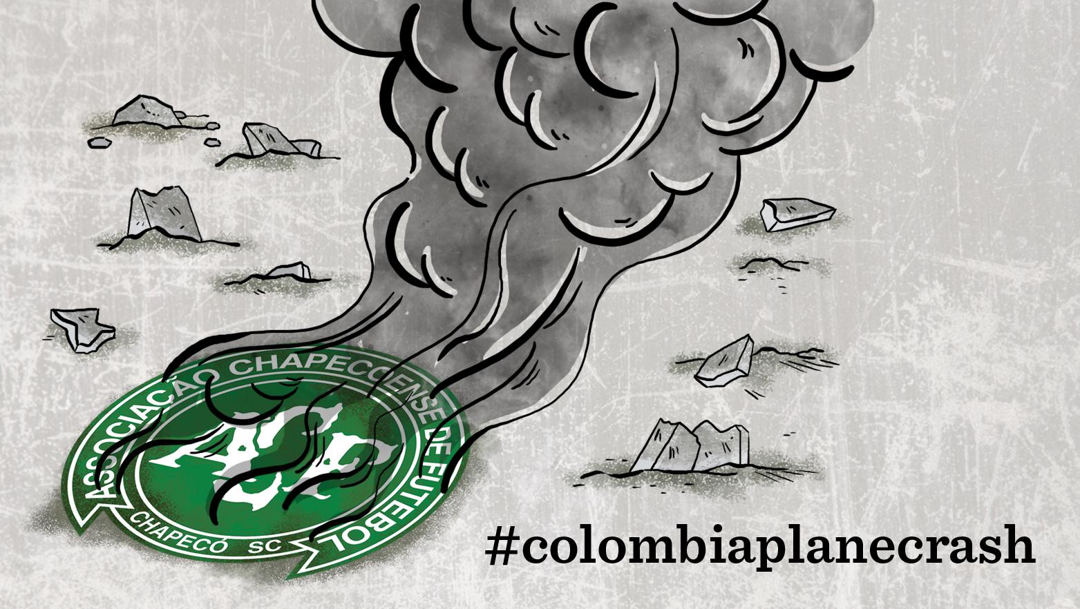 Brazilian football team in Colombia plane crash