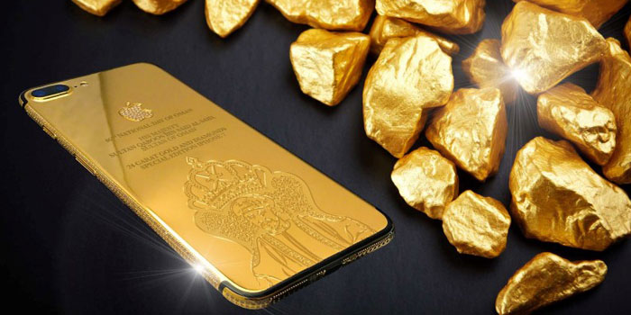 Gold-and-diamond iPhone7 crafted for Oman's 46th National Day celebrations