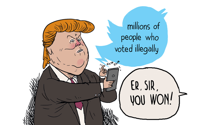 Donald Trump on illegal voters