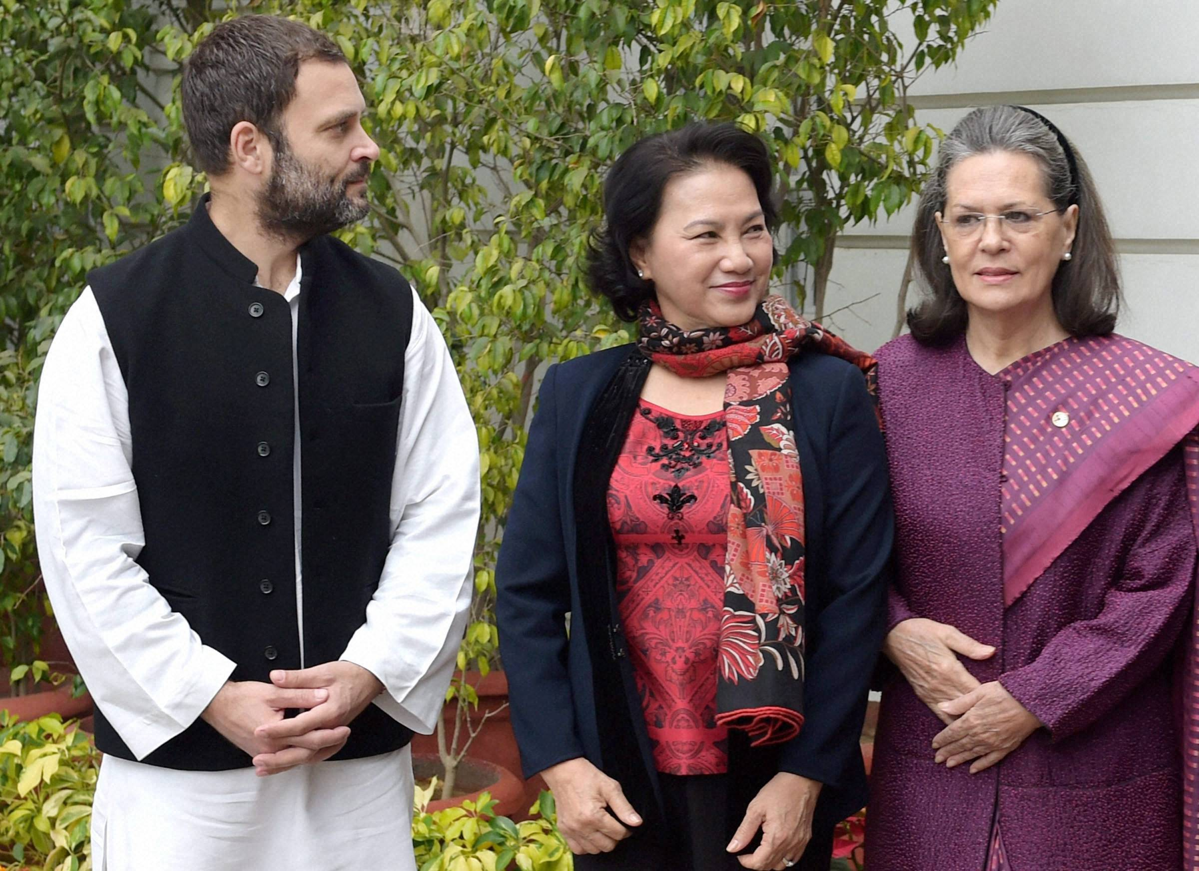 Vietnamese Parliamentary delegation meets Sonia, Rahul