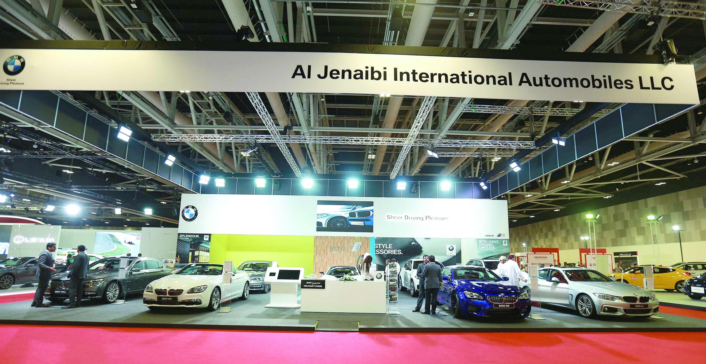 مجموعة ملفتة من سيارات BMW في معرض عمان الدولي للسيارات