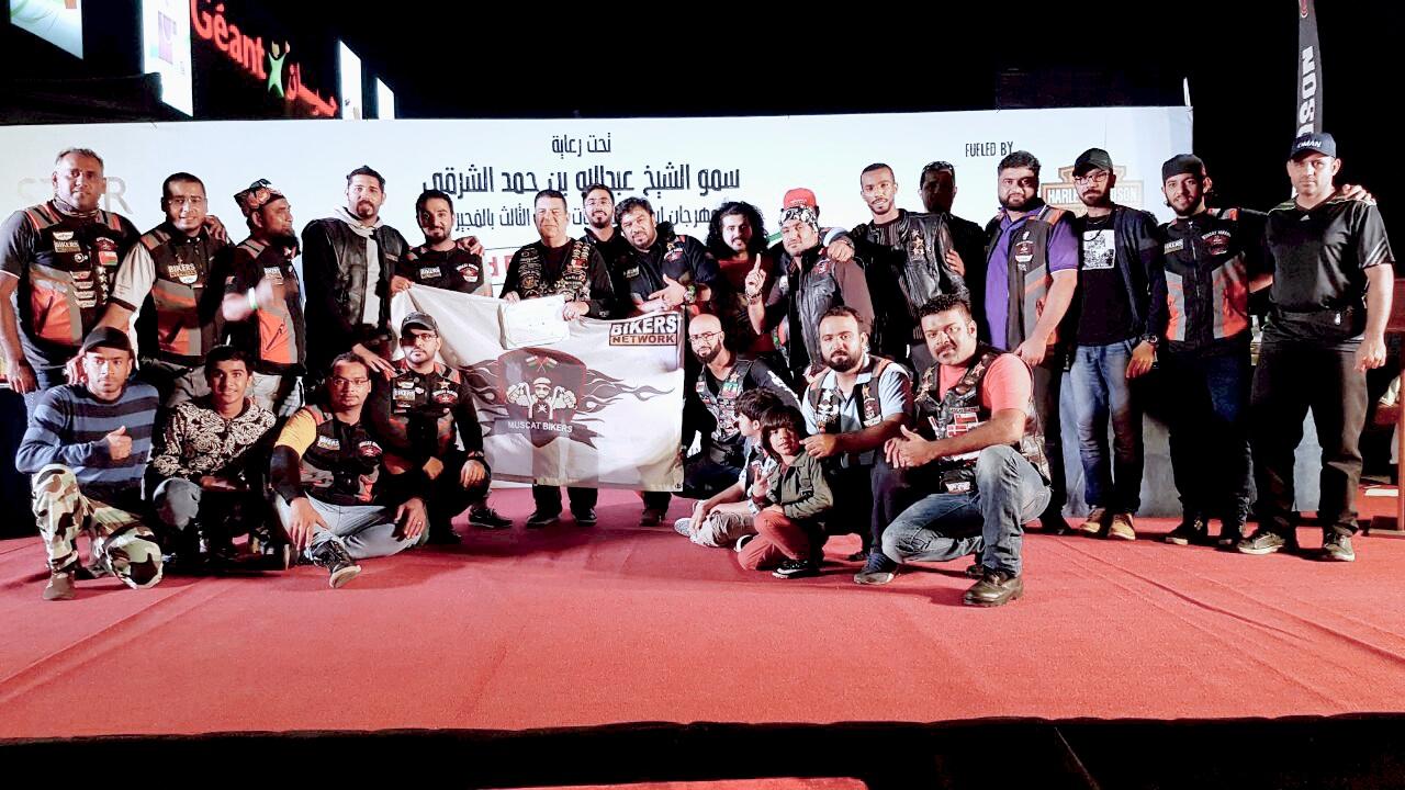 7 جوائز لفريق مسقط بايكرز في مهرجان الفجيرة الثالث للدرّاجات النارية